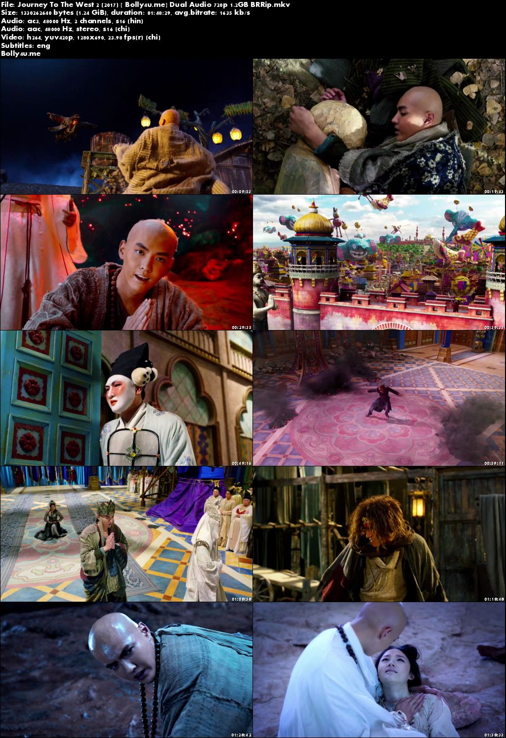 Journey To The West 2 2017 BRRip 350MB Hindi Dual Audio 480p ESub Download