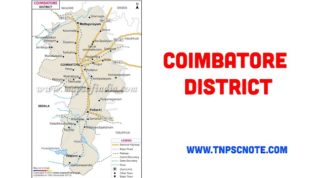 Coimbatore District Information, Boundaries and History from Shankar IAS Academy