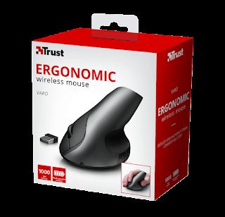 trust mouse wireless con design ergonomico 22126