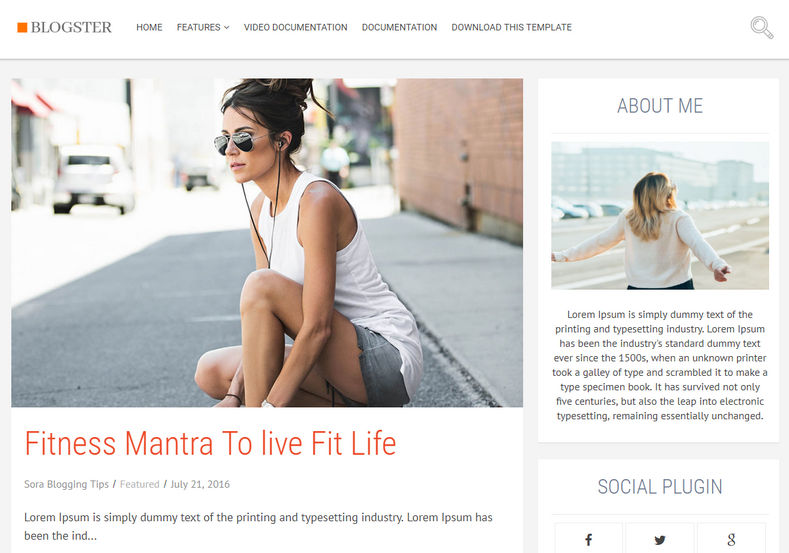 Blogster Blogger Template