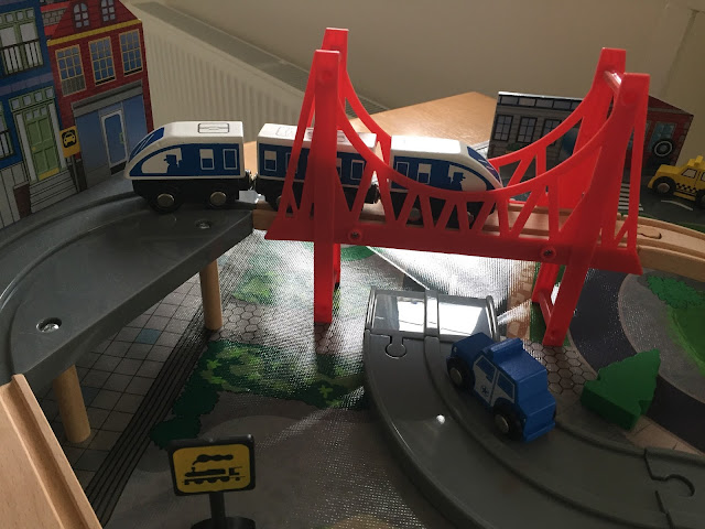 Universe of Imagination 40 Piece Road and Rail Train Set