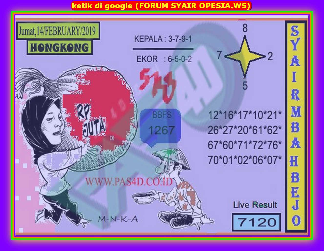 Kode syair Hongkong Jumat 14 Februari 2020 84