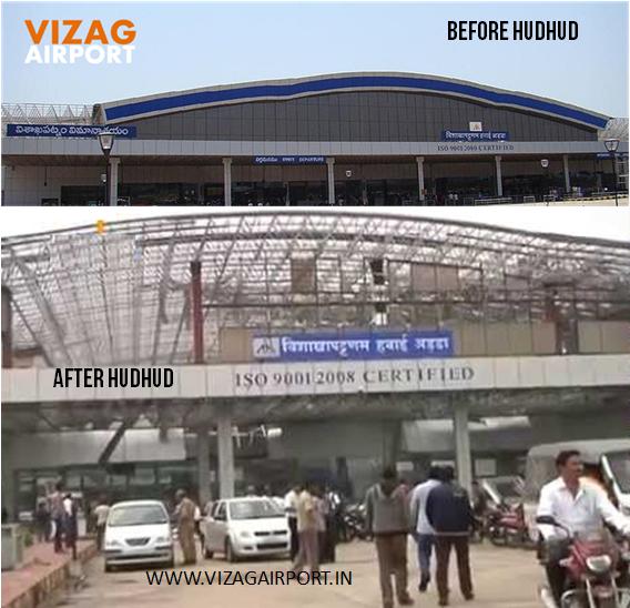 VIZAG AIRPORT BEFORE AFTER HUDHUD PICS