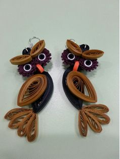 2015 creative quilling earring animals designs quilling for Big quilling designs