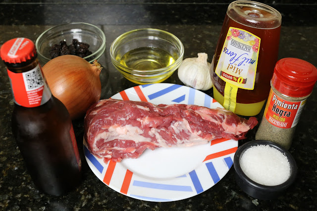 Ingredientes para solomillo de cerdo a la cerveza