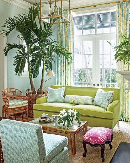 Lime green decor completely coastal for Green decorations for home