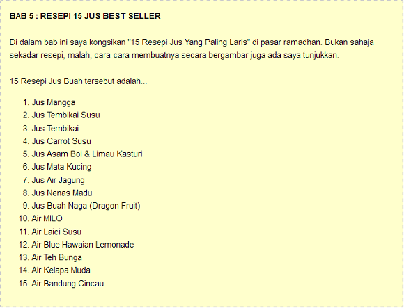 Resepi jual best seller air balang