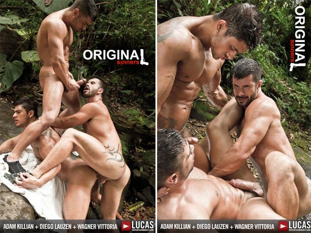 Video de Sexo Gay - Adam Killian, Diego Lauzen e Wagner Vittoria 2