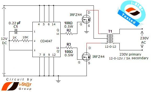 12v To 230v Dc To Ac Inverter Circuit Diagram Nonstop Free