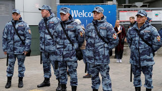 Russian police told to keep lid on bad news during World Cup