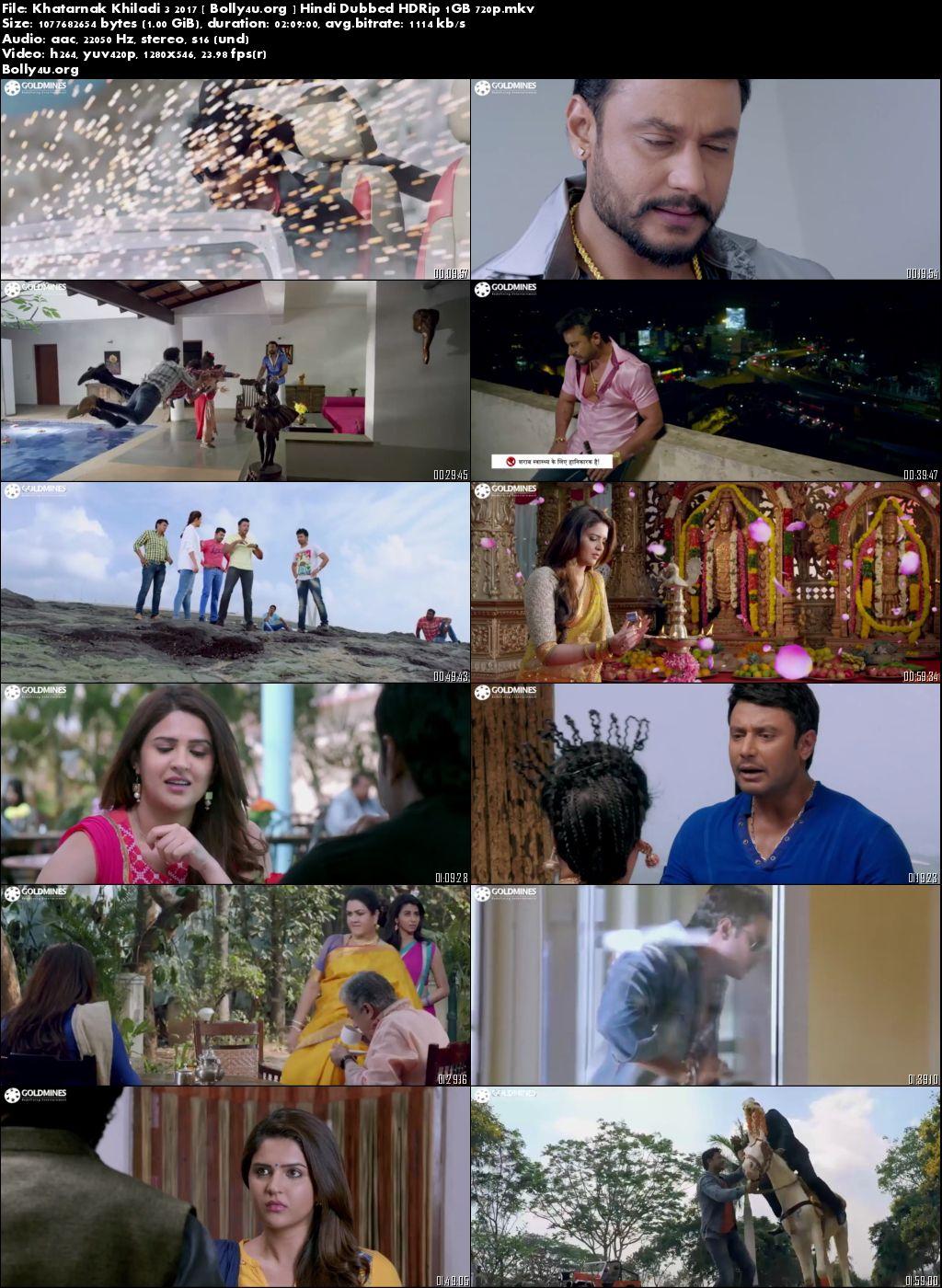 Khatarnak Khiladi 3 2017 HDRip 720p Hindi Dubbed 1GB Download