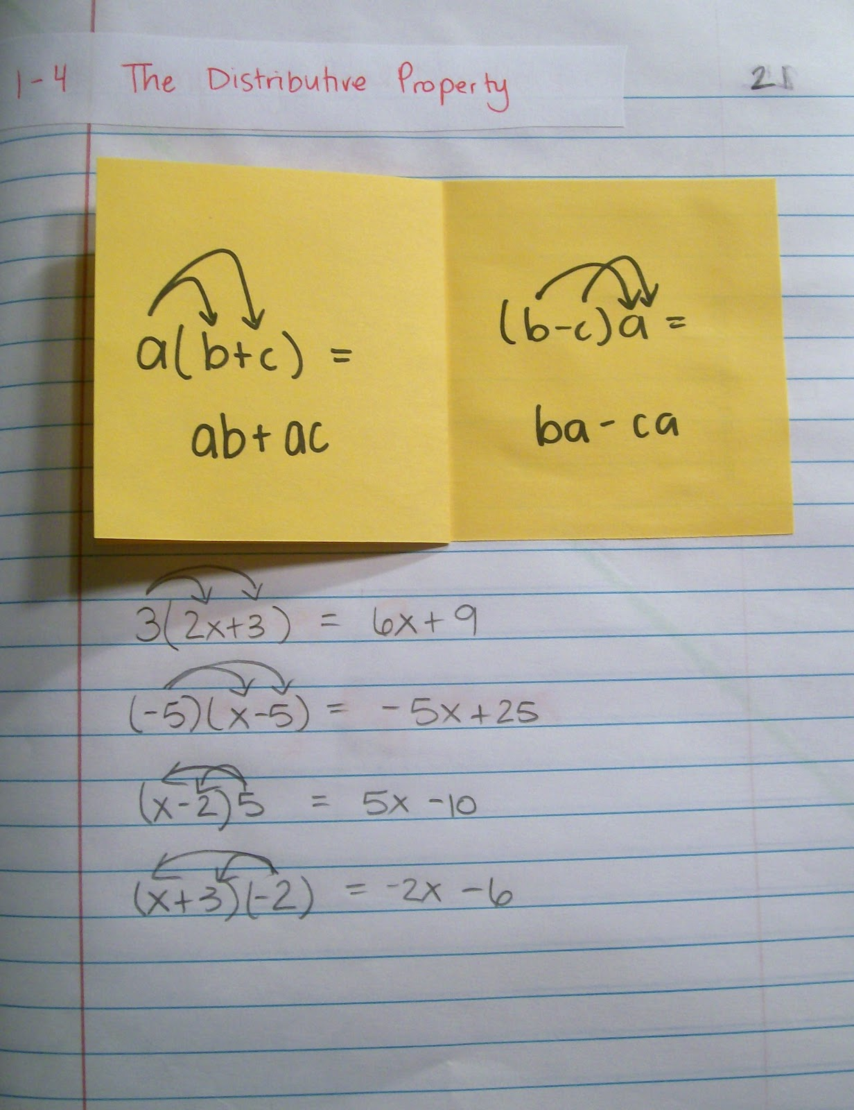 Math Love Interactive Notebook Pages Of Late Algebra 1