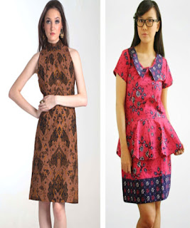 dress batik pendek remaja