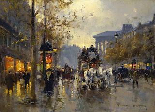 paisajes parisinos pinturas de paris modernos