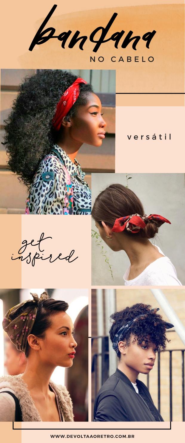 Como usar bandana no cabelo, penteados com bandana, como usar bandana