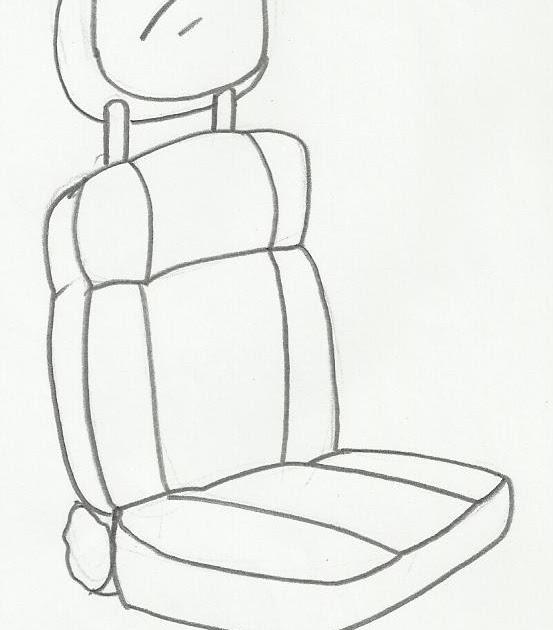 Desenho De Banco De Carro Para Pintar