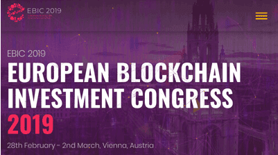 Here, European Blockchain Investment Congress 2019 Bringing Industry Professionals, Investors and Startups Together in Vienna