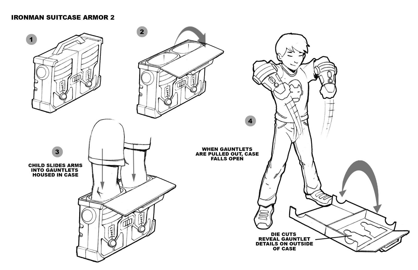 Tom Mcweeney Illustrator Designer Iron Man Ii Suitcase