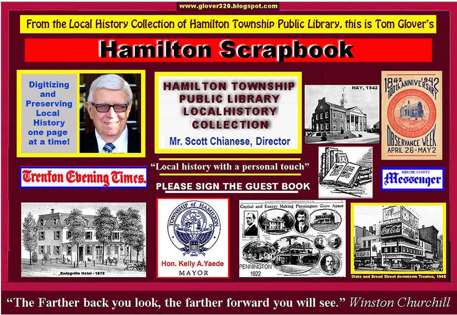 TOM GLOVER'S HAMILTON  LIBRARY SCRAPBOOK: LOCAL HISTORY WITH A PERSONAL TOUCH.