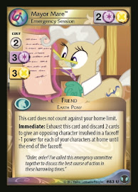 My Little Pony Mayor Mare, Emergency Session Defenders of Equestria CCG Card
