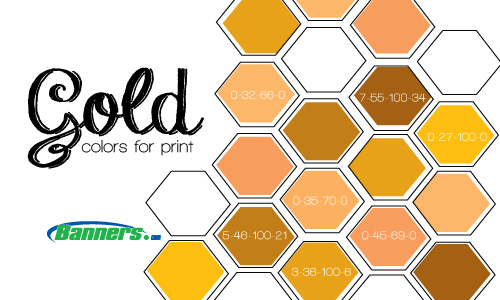 Gold CMYK Colors for Digitally Printed Banners