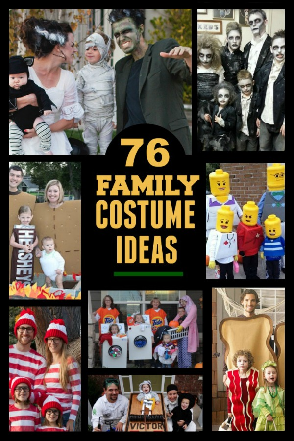 76+ FAMILY COSTUME IDEAS- these are awesome!  #familyhalloweencostumes #halloweencostumes #costumeideas #familythemedhalloweencostumes