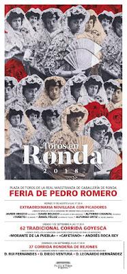 FERIA DE PEDRO ROMERO 2018 -  CARTEL TAURINO