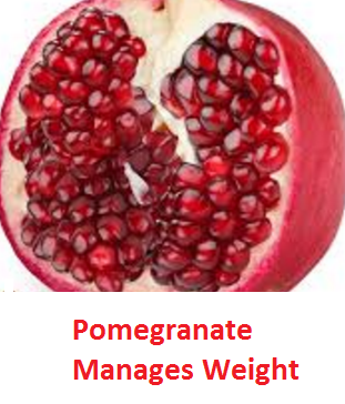 Health Benefits of Pomegranate Fruit (anar fruit) juice - Pomegranate Manages Weight