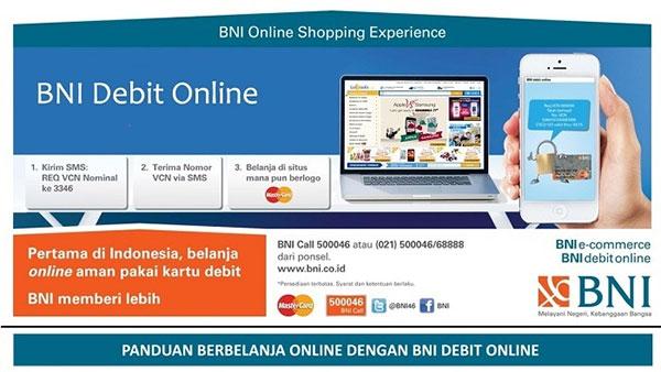 Bank BNI Hentikan VCN Debit Online