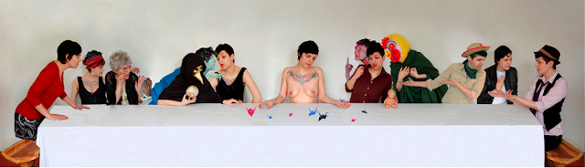 A Lesbian Last Supper by arfism