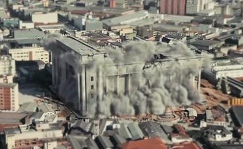 Destrucción ficticia del Templo de Salomón de Brasil