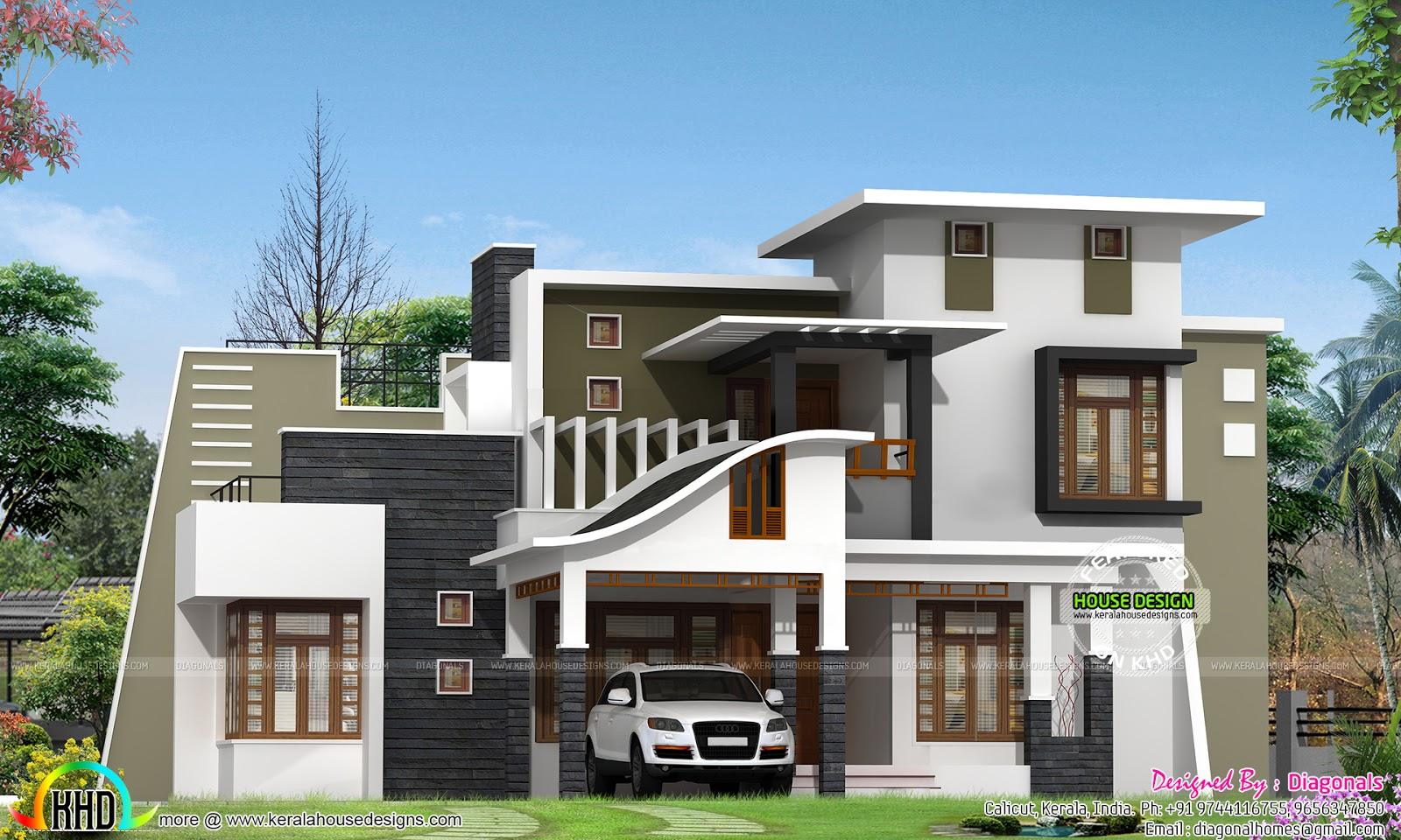 Contemporary Mix Modern Home Kerala Home Design Bloglovin