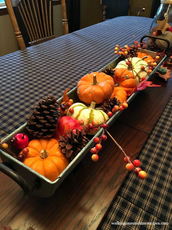 Galvanized Tray on Dinning Room Table from Walking on Sunshine Recipes
