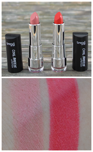 trend it up cool breeze LE lipsticks 020 und 030 mit Swatches
