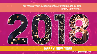 Sparkling New Year Greeting 2018