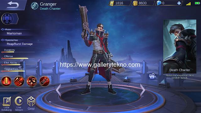 Jadwal Rilis Hero Granger Mobile Legends di Server Ori