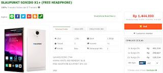 Blaupunkt Sonido X1+ Turun Harga Jadi Rp 1 Jutaan (Bonus Headphone)