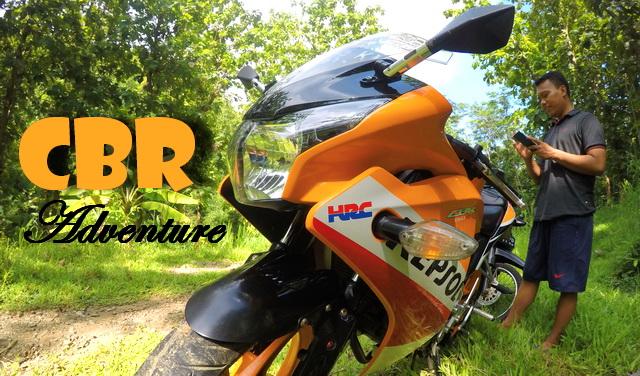 Honda CBR150R Nanjak Ke Kali Cewok Watu Nggaru Desa Adiwarno