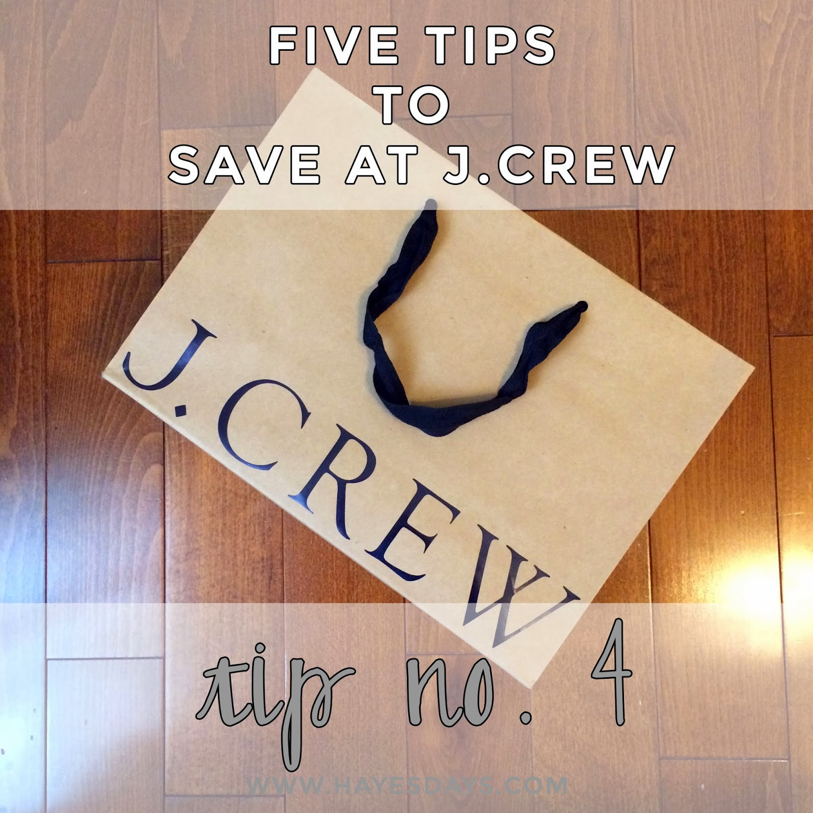 five tips to save at J.Crew tip #4 :: www.hayesdays.com