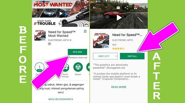 cara hack google play store agar gratis