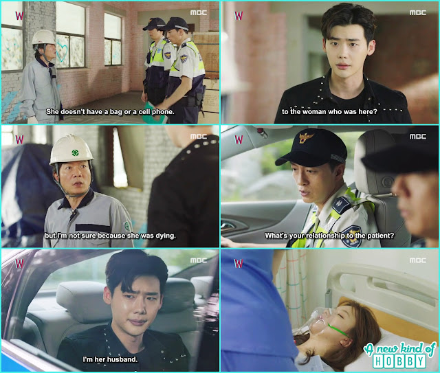 yeon jo was in hospital in critical condition kang chul with police came at the hospital  - W - Episode 13 Review - The Hypothesis & Unexpected Twist