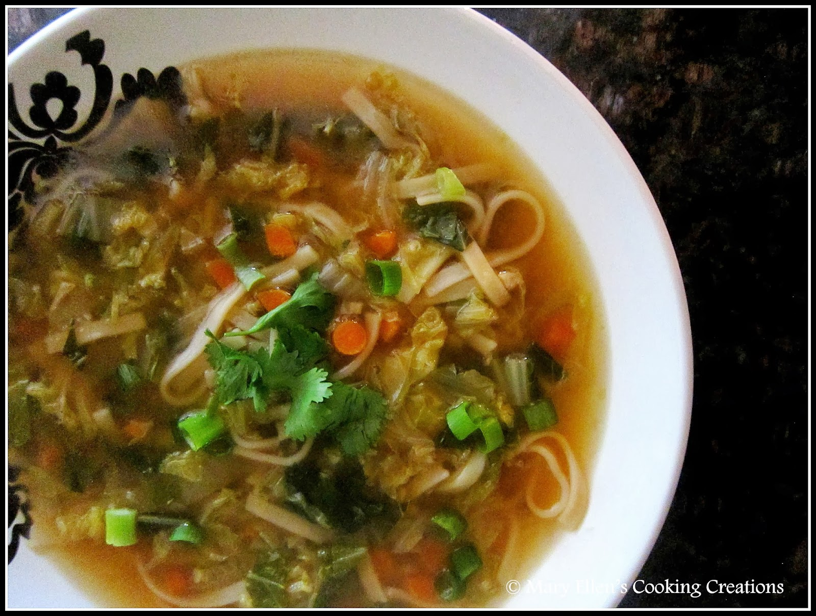 Mary Ellen's Cooking Creations: Asian Noodle Soup