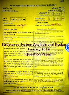 NIELIT A/B Level Structured System Analysis and Design January 2019 Question Paper