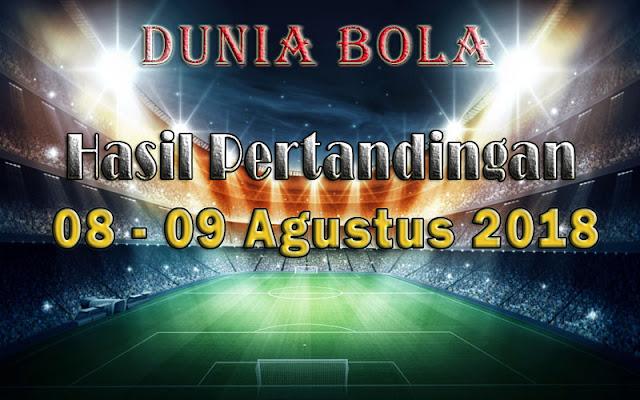 Hasil Pertandingan Sepak Bola Tanggal 08 - 09 Agustus 2018