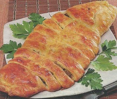 Состав продуктов и способ приготовления пирога с капустой