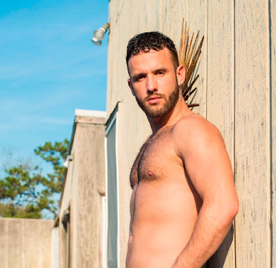 Hairy Male Model Aaron Steel