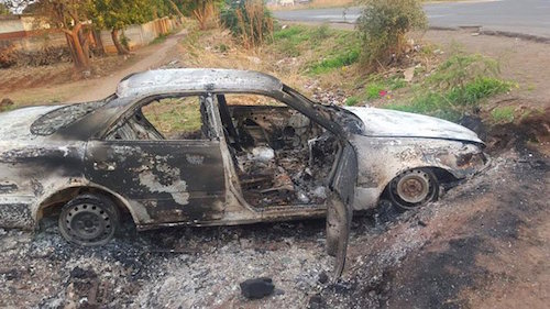 police abduct anti mugabe activists beat them up burn their cars ahead of planned protest photos