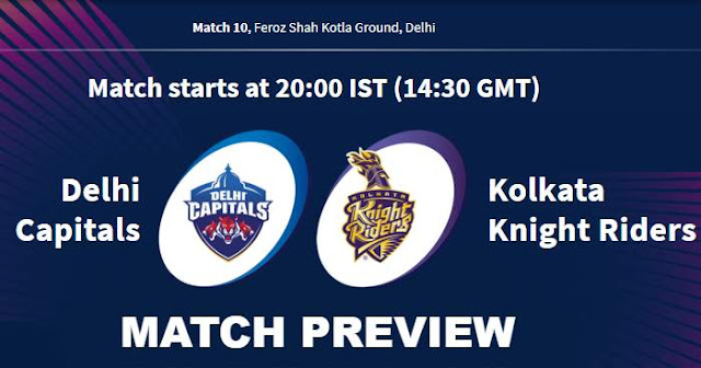 VIVO IPL 2019 Match 10 DC vs KKR Match Preview, Head to Head and Trivia
