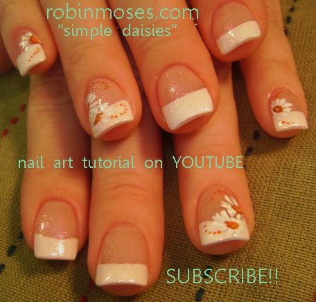 Nail Art By Robin Moses Quotflower Nail Artquot Quoteasy Nail Art