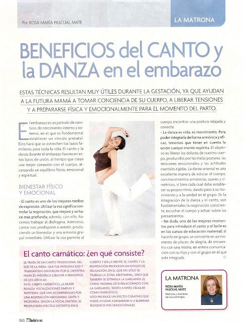 BENEFICIOS DEL CANTO Y LA DANZA EN EL EMBARAZO